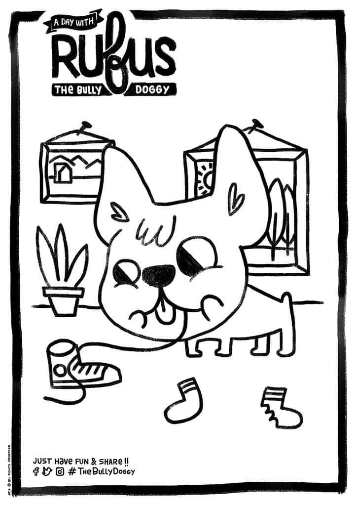 Nat Joan | Ilustrador | Rufus, the bully doggy